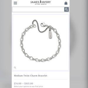 James Avery Medium Twist Charm Bracelet in SMALL